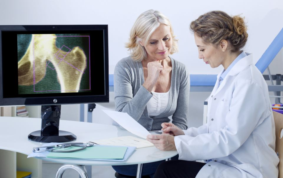 Bone density decreases, and osteoporosis might be diagnosed.