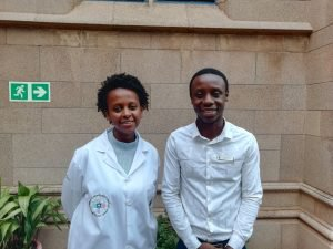Wits pharmacy students Lydia Bisetegn and Mbuso Thwala
