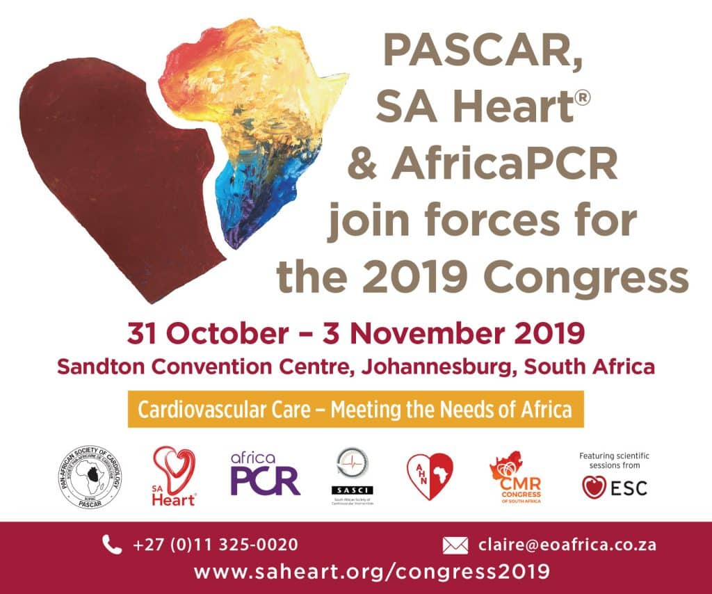 PASCAR, SA Heart & AfricaPCR Congress 2019