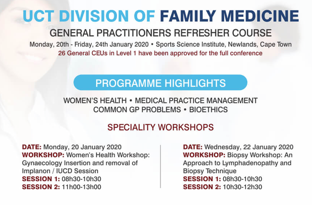 UCT GP Refresher Course 2020